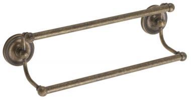 2er Handtuchstange 60cm Messing alt antik gebürstet