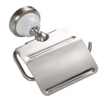 Toilettenpapierhalter Keramik Messing Satin