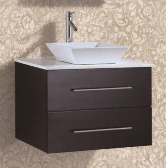 Waschtisch Badmöbel Set Marmorplatte Wandmontage 75cm