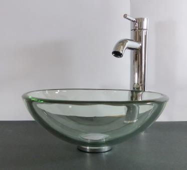 Aufsatz Glas Waschbecken Klarglas 31cm