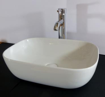 Keramik Aufsatzwaschbecken eckig 45 x 32cm