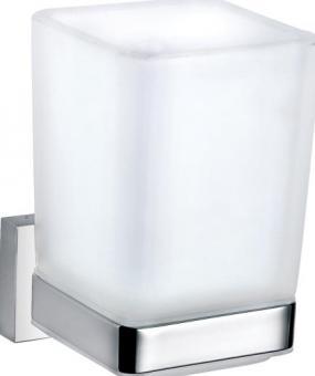 Loft Design Bad Accessoires modern Messing Chrom Becherhalter