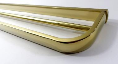 Doppel Handtuchstange Messing gold glänzend