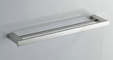 Doppel Handtuchstange 60cm Edelstahl gebürstet matt