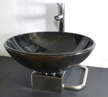 Gäste-WC Edelstahl Waschtisch Wandkonsole für Aufsatz Waschbecken 42cm