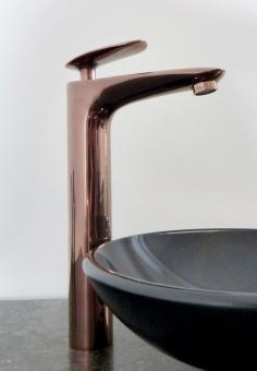 Hohe Bad Waschtisch Armatur roségold kupfer