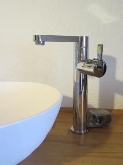 """Bad Waschtisch Armatur Aufsatz Waschbecken """"Riga"""""""