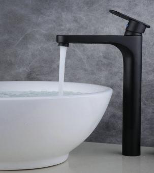 Hohe Bad Waschtisch Armatur schwarz matt
