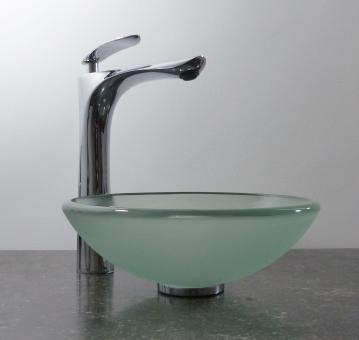 Aufsatz Glas Waschbecken satiniert 29cm