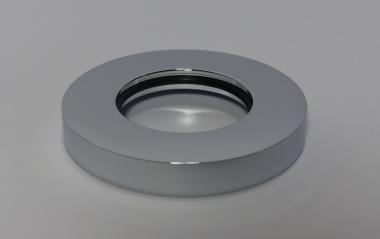 Rosette Messing Chrom Wandrosette für Siphon H 8 D 59/32
