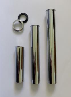 """Tauchrohr Bördelrohr 1 1/4"""" 250mm Messing Chrom mit Anschluss"""
