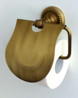 Toilettenpapierhalter Landhaus Messing gebürstet