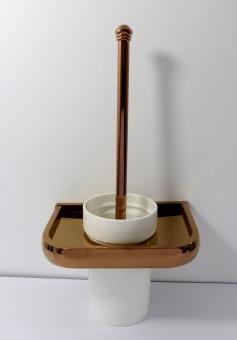 WC-Bürstengarnitur Keramik Messing roségold kupfer