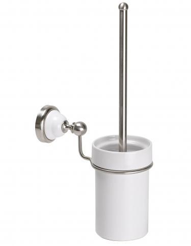 Wand WC-Bürste Keramik Messing Satin