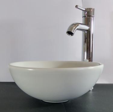 Keramik Aufsatzwaschbecken weiß MATT rund 28cm