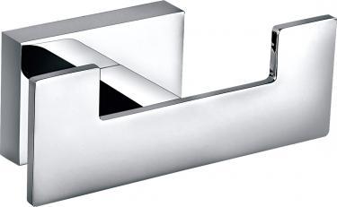 Loft Design Bad Accessoires modern Messing Chrom 2er Handtuchhaken