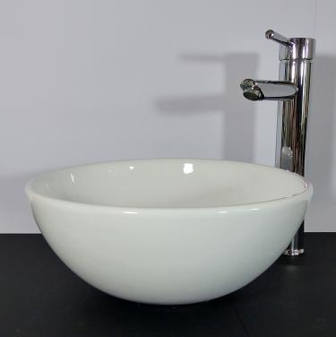 Keramik Aufsatz Waschbecken rund 32cm