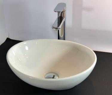 Keramik Aufsatz Waschbecken oval