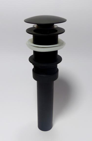 Ablaufgarnitur mit Pop-Up Excenter-Garnitur schwarz matt