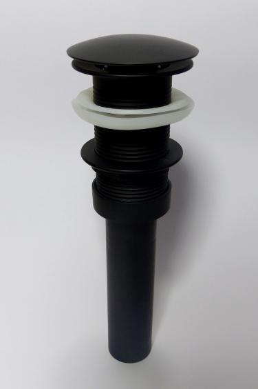 Pop-Up Excenter Ablaufventil schwarz matt