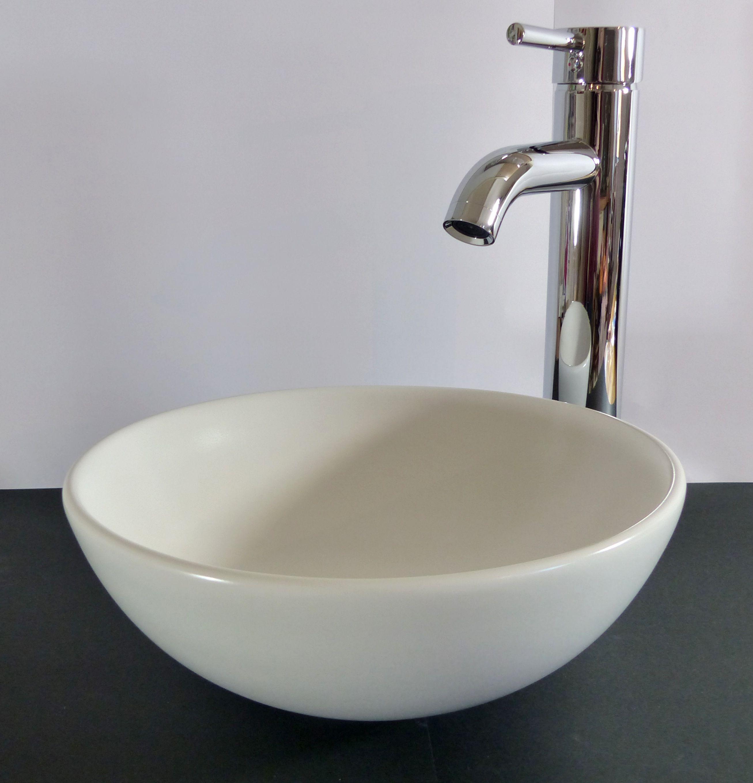 nero badshop keramik aufsatzwaschbecken wei matt rund