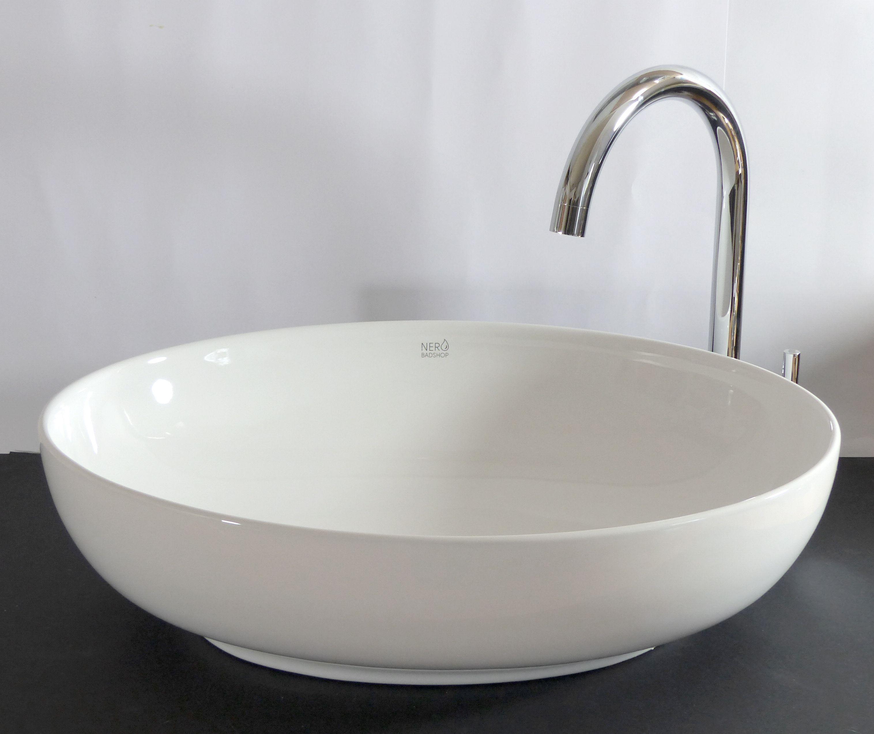 nero badshop keramik aufsatz waschbecken oval online. Black Bedroom Furniture Sets. Home Design Ideas