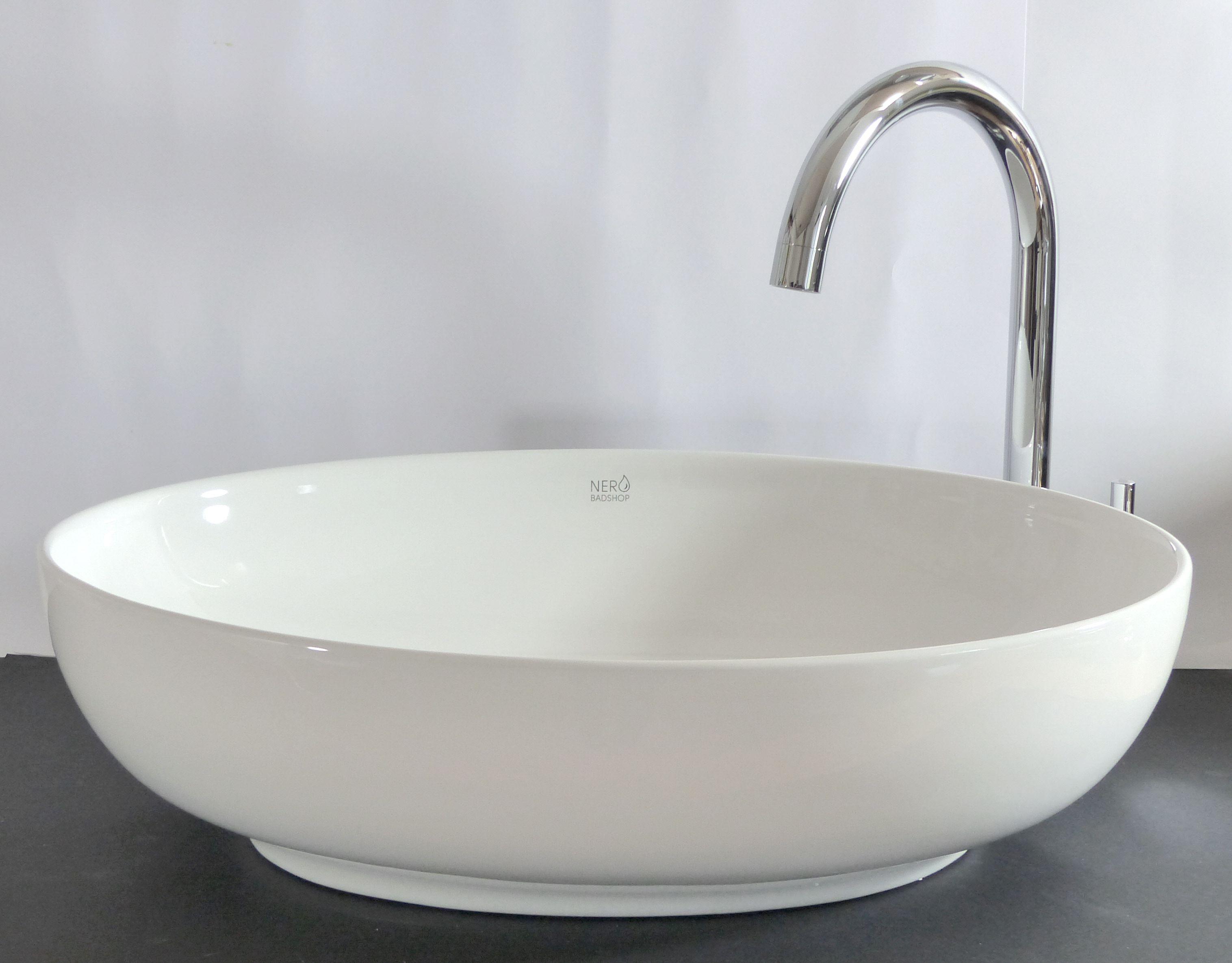 Waschbecken Oval Aufsatz nero badshop keramik aufsatz waschbecken oval kaufen