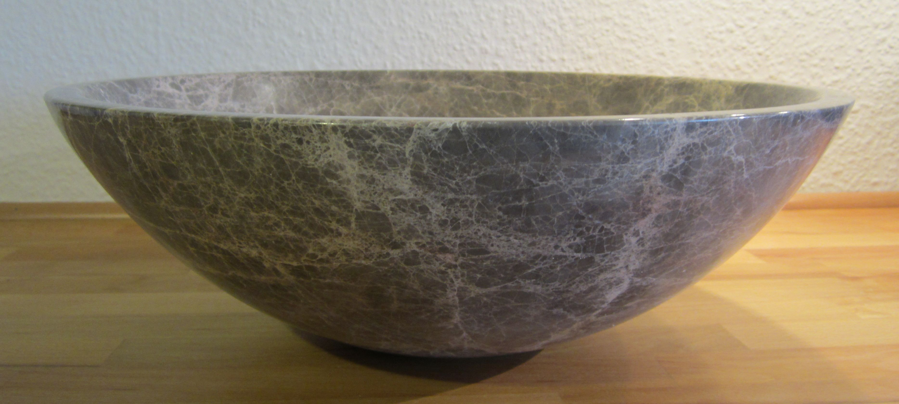 Nero Badshop | Aufsatz Waschbecken rund Marmor braun | online kaufen | {Waschbecken rund 60}