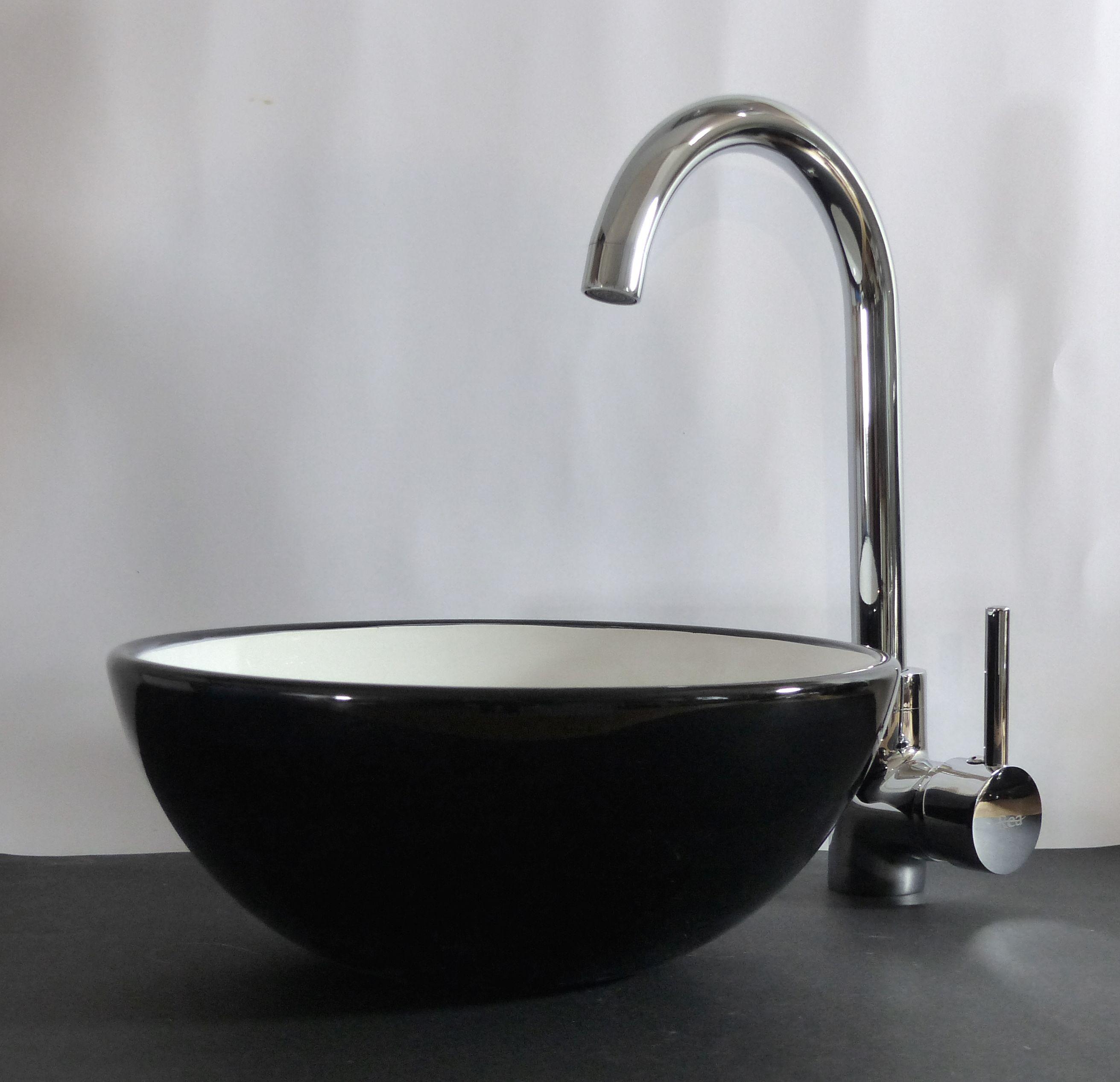nero badshop keramik aufsatz waschbecken rund 28cm. Black Bedroom Furniture Sets. Home Design Ideas