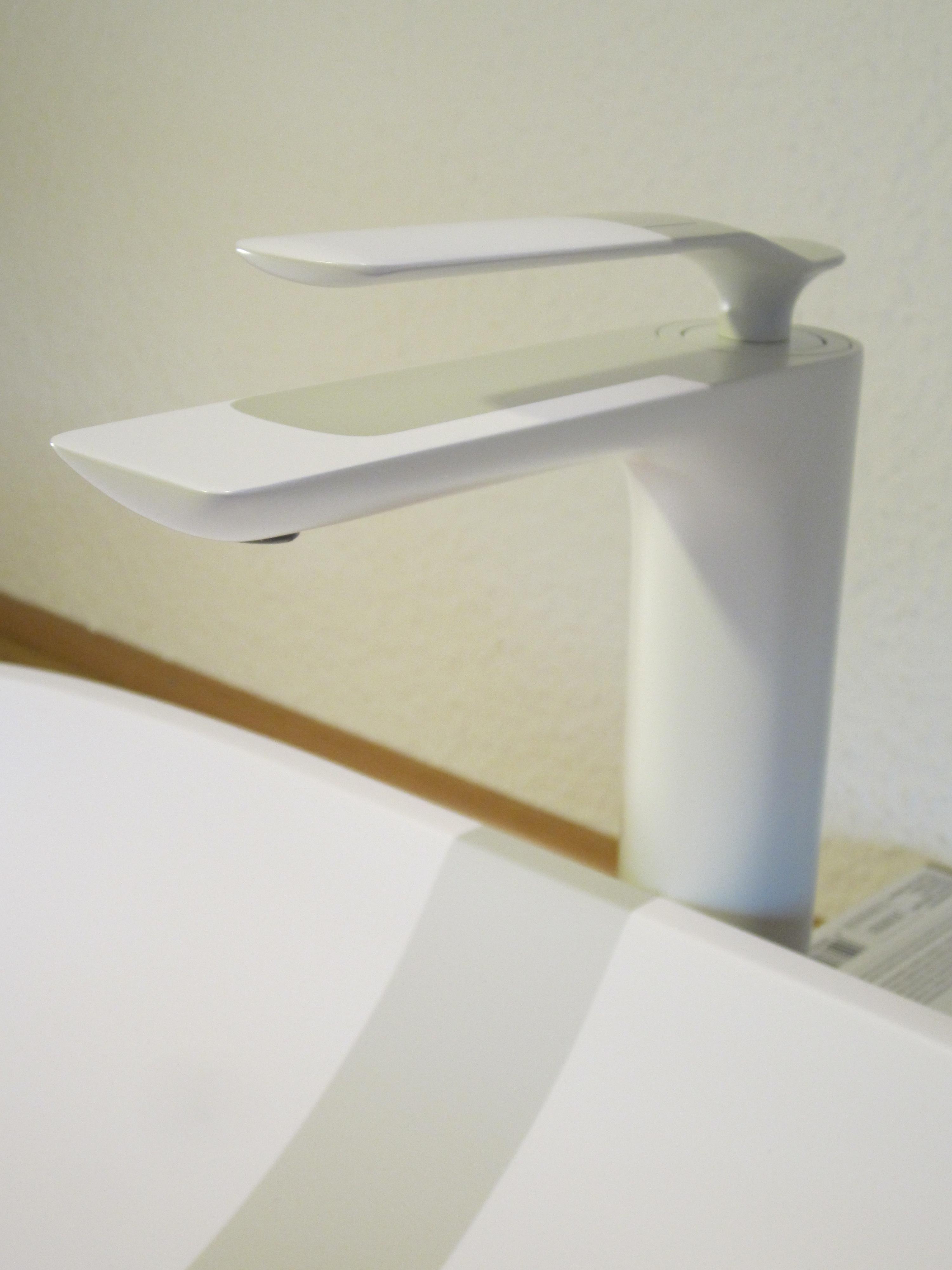 nero badshop hohe bad waschtisch armatur vitoria wei matt online kaufen. Black Bedroom Furniture Sets. Home Design Ideas