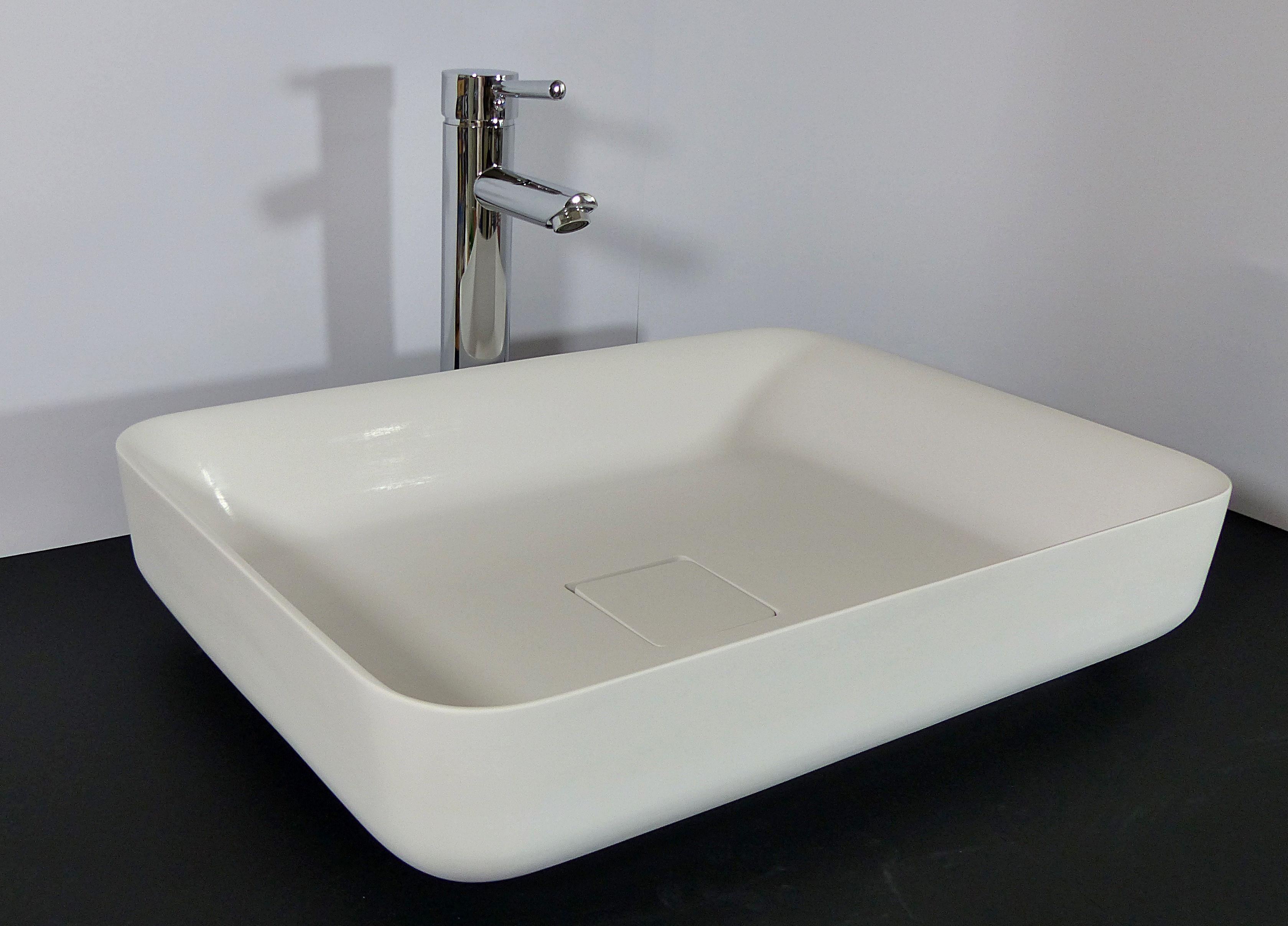 nero badshop feines mineralguss stein waschbecken wei matt eckig online kaufen. Black Bedroom Furniture Sets. Home Design Ideas
