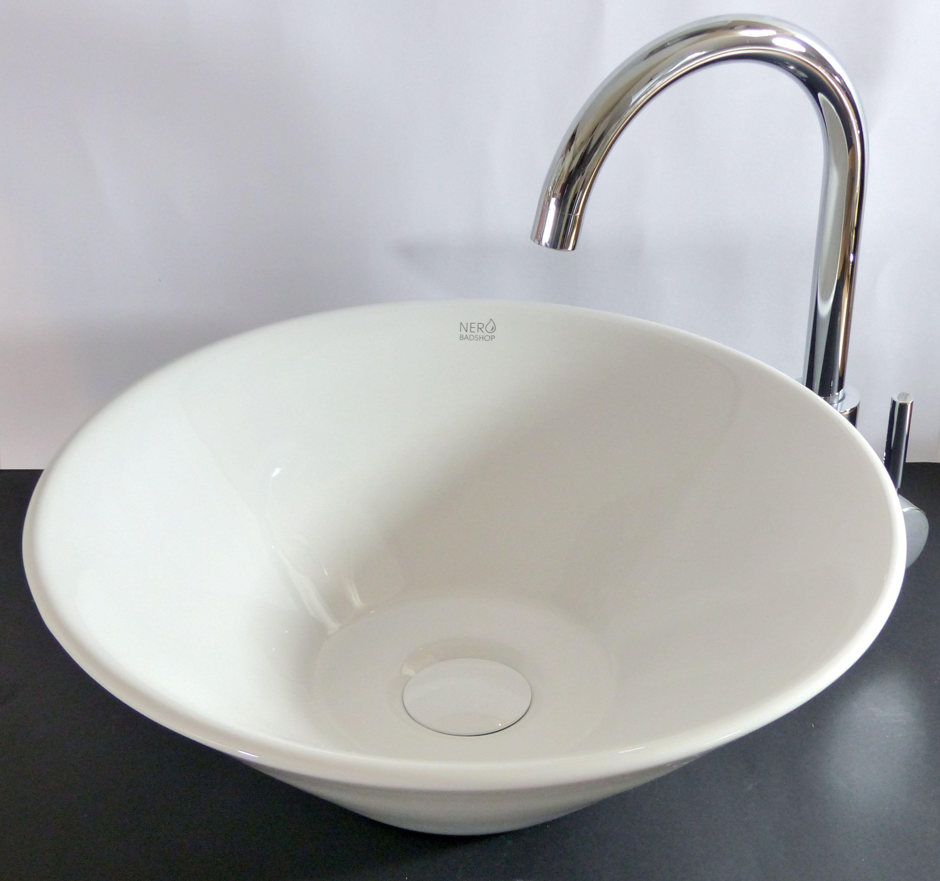 nero badshop runde keramik aufsatz waschschale konisch online kaufen. Black Bedroom Furniture Sets. Home Design Ideas