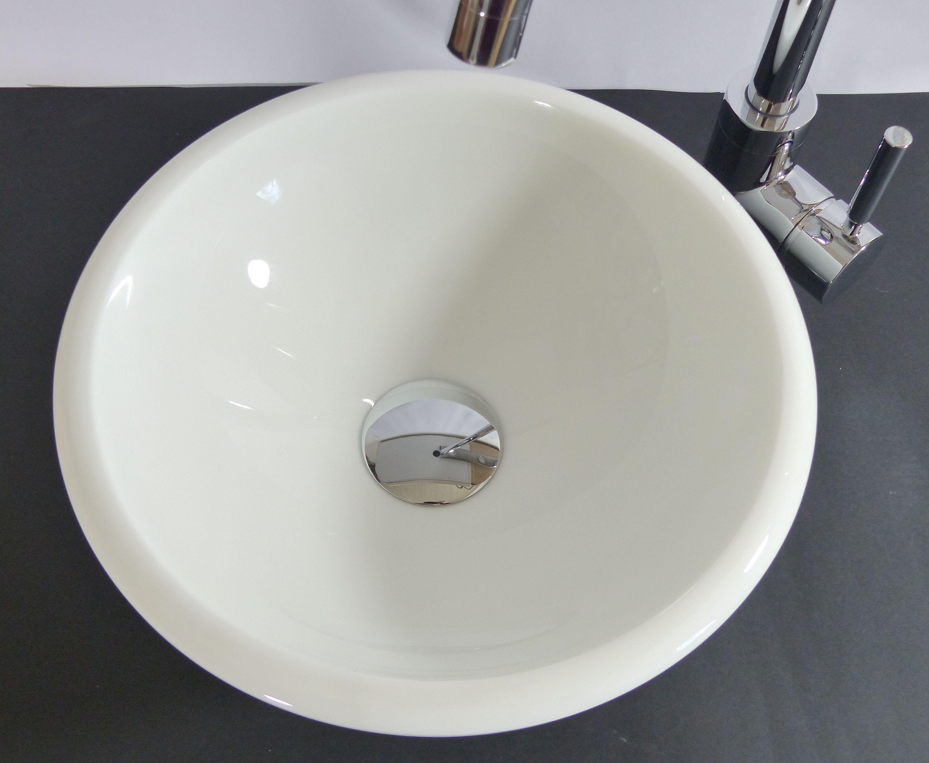 nero badshop aufsatz stein glas waschbecken klein wei phoenix online kaufen. Black Bedroom Furniture Sets. Home Design Ideas